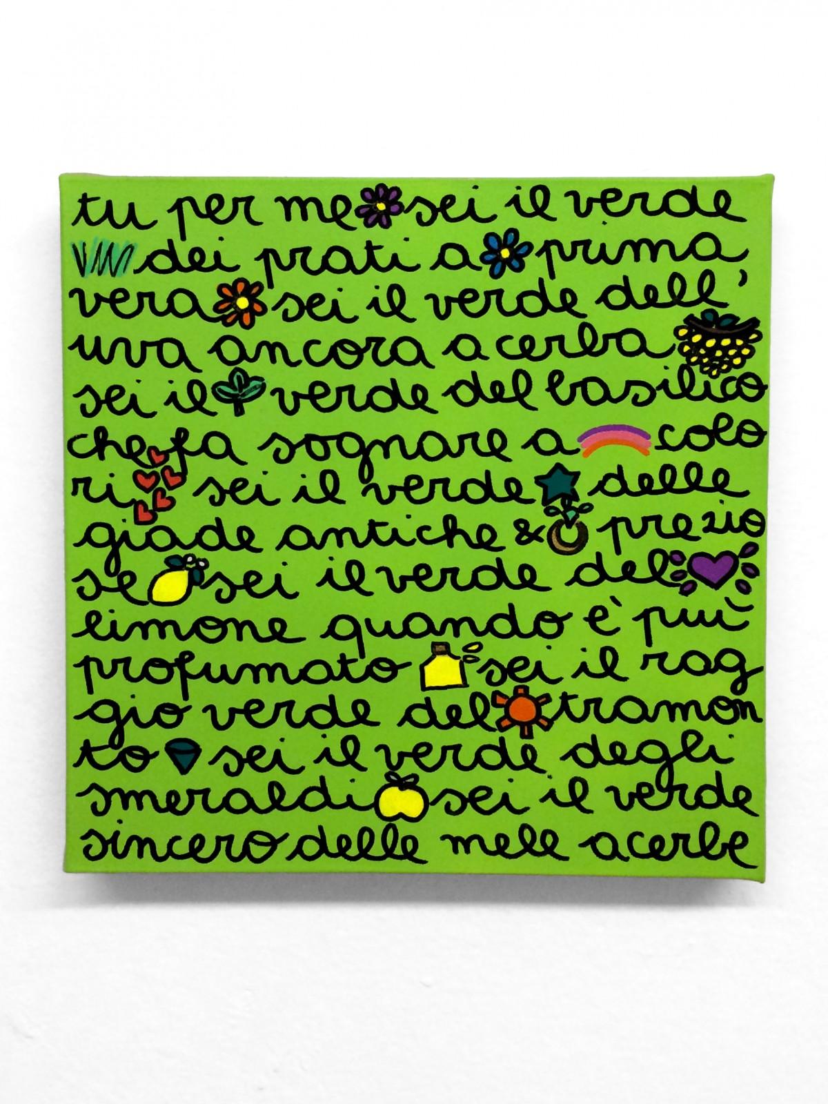 Tu per me sei il verde